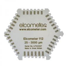 Elcometer 112 - Aluminium Hexagonal Wet Film Comb: 25-3000µm..