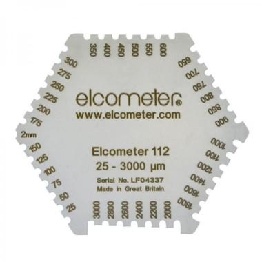 Elcometer 112 - Aluminium Hexagonal Wet Film Comb: 25-3000µm/1-118Mils, Pack Of 10