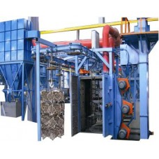 Multiple rotating shot blasting machine